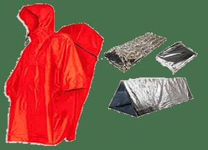 impermeable y manta térmica