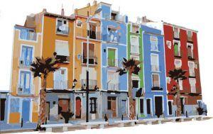 Villajoyosa en la Marina Baixa, Alicante